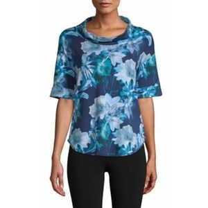 Women's Cowl Neck Elbow Sleeves Top T-Shirt